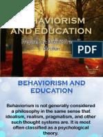 Behaviorism and Education
