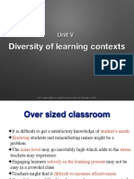 Diversity of Learning Context