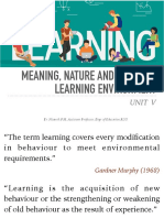 Meaning, Nature and Scope of Learning Environment