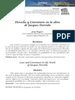 Derecho y Literatura en La Obra de Jacqu
