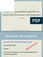 Impact of Population Growth on Economic Developments