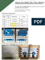 2017 Plasma Gel Maker Bio Filler Machine