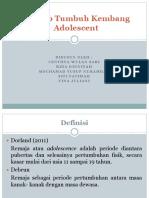 Konsep Tumbuh Kembang Adolescent