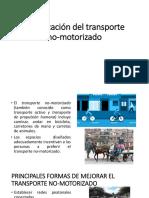 Planificación Del Transporte No-motorizado