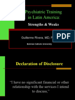 Psychiatric Training in Latin America