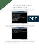Cara Memberikan Ip Address Pada Ubuntu Server 14