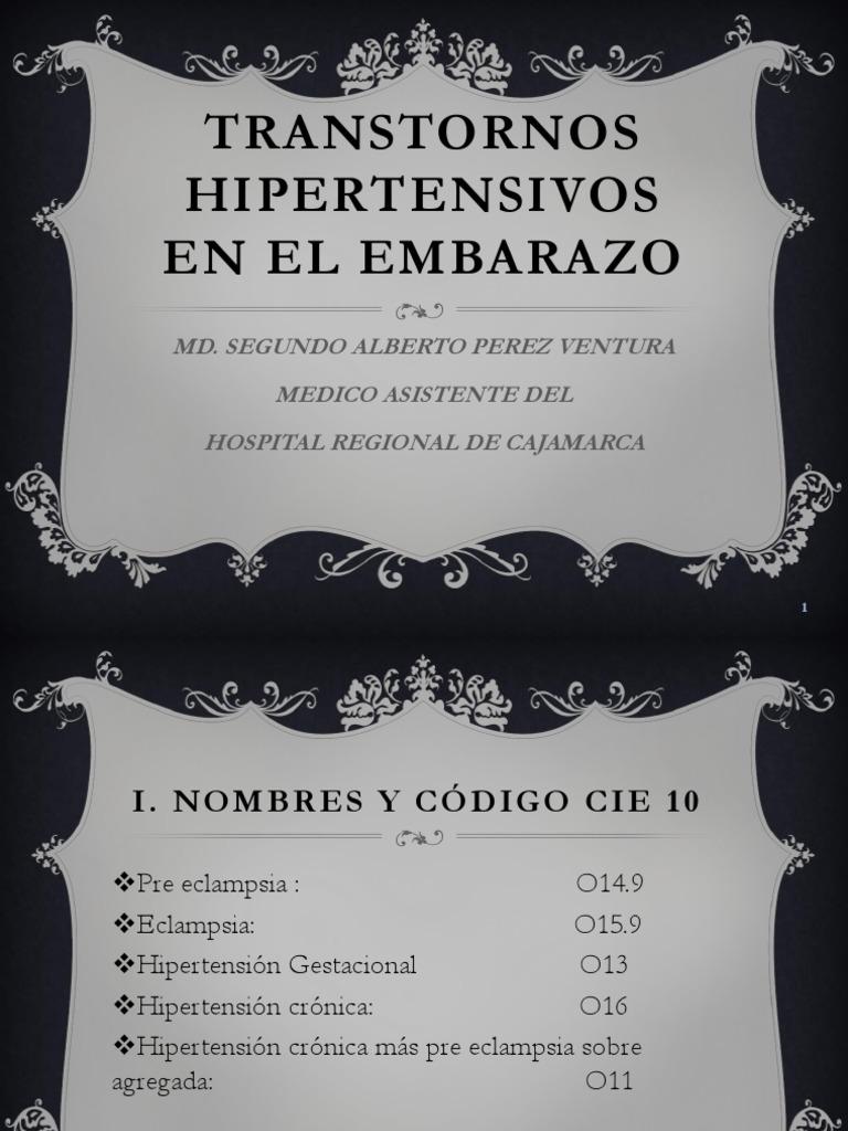 Código icd 10 para hipertensión pulmonar crónica