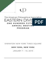 2019 APA Eastern Division Meeting Program