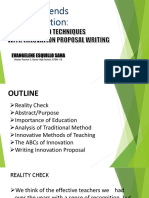STRATEGIES OF TEACHING WITH INNOVATION WRITING