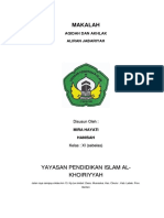 MAKALAH Al Kho Aliran Jabariyah