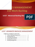 Advanced Backlog Management