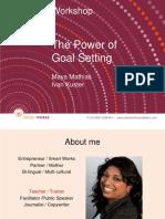 Smart Works PPT the Power of Goalsetting