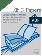 Tasa natural de interés en México