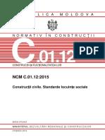 NCM-C.01.12-2015 Construcţii Civile. Standarde Locuinţe Sociale