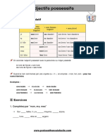 Adjectif possessif