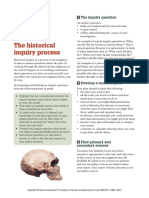 Historical inquiry process