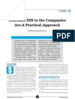 Schedule XIII to the Companies a Practical Approach