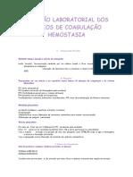 Manual Diagnostico Laboratorial Coagulopatias Plaquetopatias