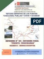 Puente Yunculmas - Vol. 01 - Memoria Descriptiva