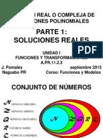 PARTE 1 Solucion Real o Compleja Ecuacion Polinomica Blanco y Negro