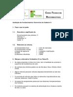 Avaliacao de Conhecimentos Exercicios Caderno (II)