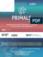Strategies for Science Disciplinary Literacy