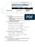 1ra Práctica Dirigida de Matemática Básica (Ecuación Lineal)