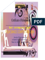 Dance Certificate