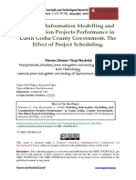 Building Information Modeling and Construction Projects Performance. the Effect Project Scheduling