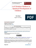Influence of Christian Mothers in Nurturing Spiritual Development of Children