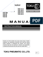 Toku Hydraulic Hammer Instructional Manual