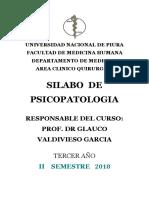 Silabo Psicopatologia 2018