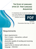 Chapter 13 - First Language Acquisition