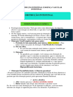 Obstrução e doença vascular intestinal