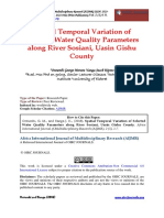Spatial Temporal Variation of Selected Water Quality Parameters Along River Sosiani, Uasin Gishu County