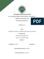 Informe 1.- Consistencia Normal y Fraguado Del Cemento