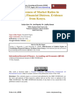 Establishing the Effectiveness of Market Ratios in Predicting Financial Distress of Listed Firms in Nairobi Security Exchange Market