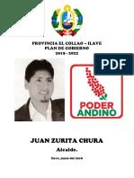 Plan de Gobierno de Juan Zurita Chura