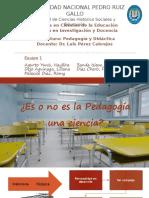 ¿Es la Pedagogía una ciencia?