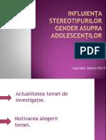 Influienţa stereotipurilor gender asupra adolescenţilor.pptx