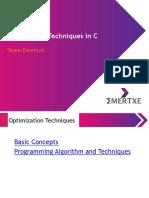 C Optimization Techniques