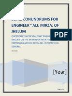 Conundrum for Engineer Ali Mirza Of Jhelum 11-04-2018 CE