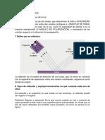 cuestionario de propiedades de la luz y sus caracteristicas