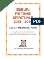 Razvan Petre-Eseuri Pe Teme Spirituale 2015-2016
