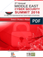 Cyber Security Saudi Brochure 2016 Delegates