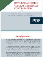 """El Contrato Por Adhesiã""""n y Las Clã-usulas Generales de Contrataciã""""n"""