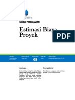 Modul Estimasi Biaya Proyek Dan Rekayasa Ekonomi TM5