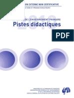 Evaluation Non Certificative - 2010 - 5e Primaire - Lecture - Pistes Didactiques (Ressource 8130)