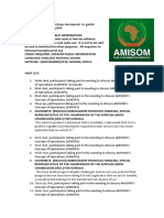 AMISOM Develops Document to Guide Transition and Exit Plan