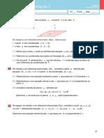 Miniteste de Avaliação 2- Geometria Analítica(Enunciado e Soluções)